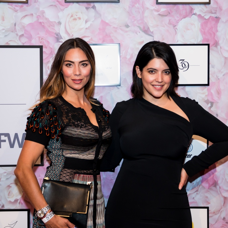 ANA MARIA SANDEGREN OF PRECIOUS7.COM AND DENISE BIDOT, SUPERMODEL