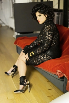DENISE BIDOT IN SEVEN CURVES DRESS FOR PRECIOUS 7 MAGAZINE