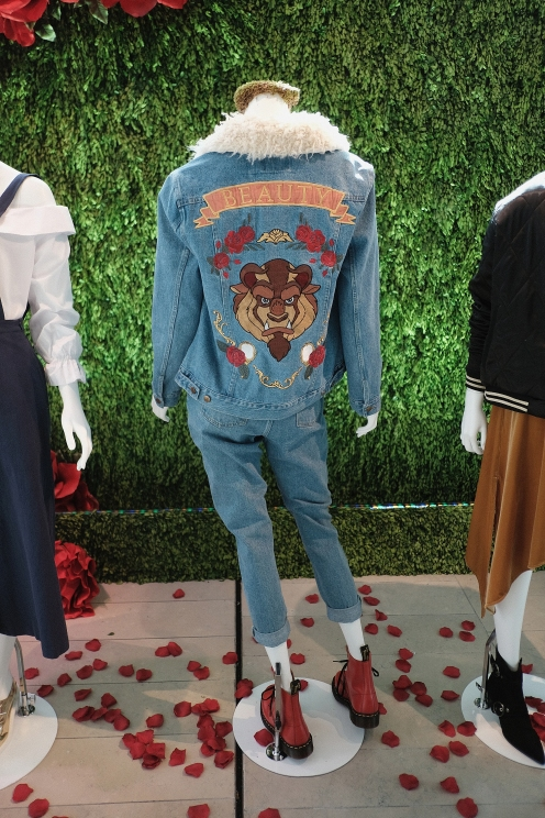 NEW YORK, NY - MARCH 13: MinkPink x Disney on display at Disney's Beauty and the Beast Product Showcase at Lincoln Center on March 13, 2017 in New York City. (Photo by Jason Kempin/Getty Images for Disney )