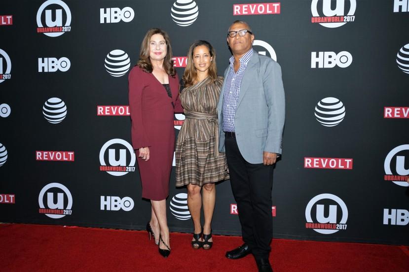 Center: Gabrielle Glore, Festival Director and Head of Programming for Urbanworld Film Festival